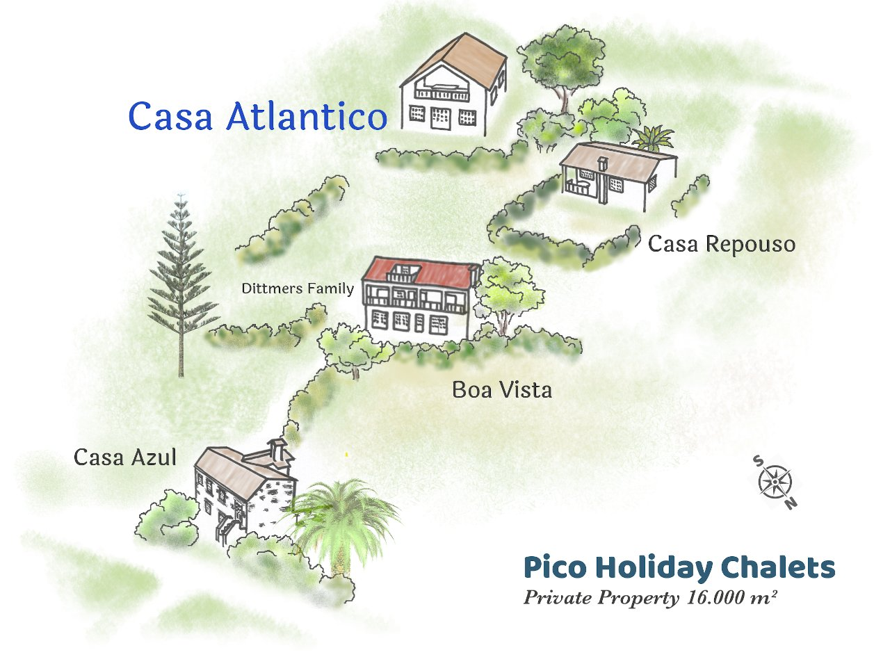 Map Pico Holiday Chalets Casa Atlantico
