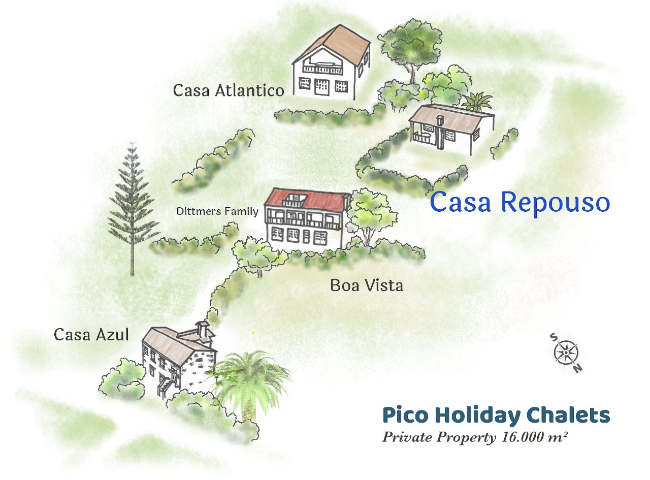 Map Pico Holiday Chalets Casa Repouso